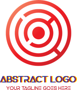 Red circular Logo Vector