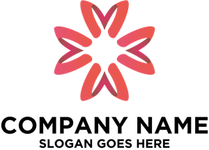 Red Flower Company Logo Vector