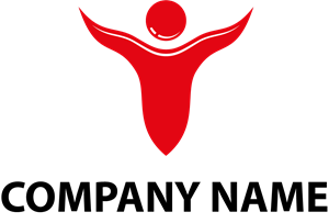 Red Happy Man Logo Vector