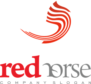 Red Horse Abstract Logo Vector