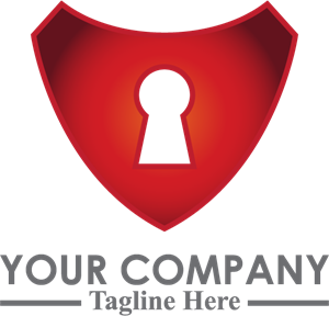 Red lock security Logo Vector