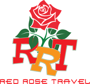 Red Rose Travel Logo Vector