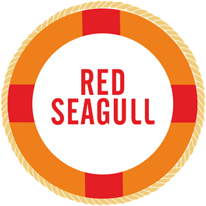 Red Seagull Logo Vector