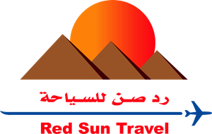Red Sun Travel Logo Vector
