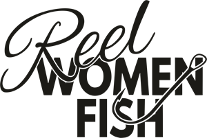 Reel Women Fish Logo Vector