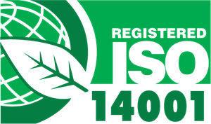 Registered ISO 14001 Green Leaf Logo Vector