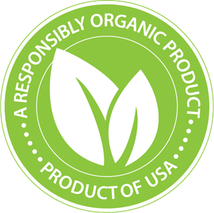 Responsibly Organic Product Logo Vector