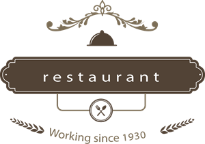 Restaurant badge in retro style Logo Vector