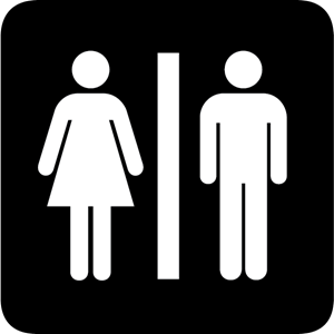 RESTROOM SIGN Logo Vector