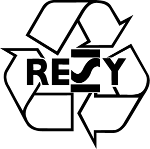 resy logo - Símbolo etiqueta