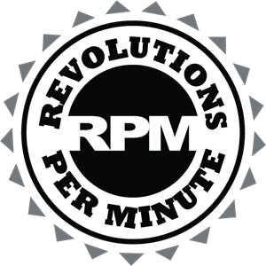 Revolutions Per Minute Logo Vector
