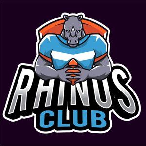 Rhinos club esport Logo Vector