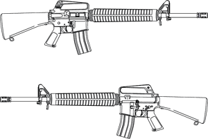 RIFLE M-16 IMAGE Logo Vector