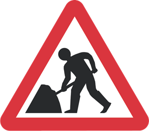 ROAD WORKS SIGN Logo Vector