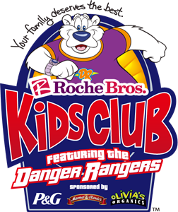 Roche Bros Kids Club featuring the Danger Rangers Logo Vector