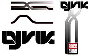Rock Shox Lyrik - MTB Fork Decals Logo Vector