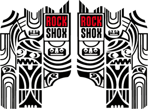 Rock Shox Totem - MTB Fork decals Logo Vector