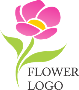 Rode Flower Logo Vector