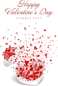 romantic valentine day cards Logo Vector
