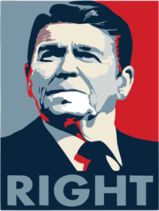 Ronald Reagan Right Poster Logo Vector
