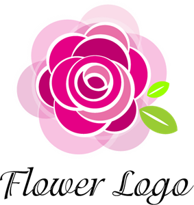 Rose Flower Art Logo Vector