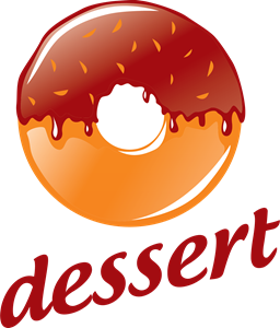 Round donut with chocolate Logo Vector