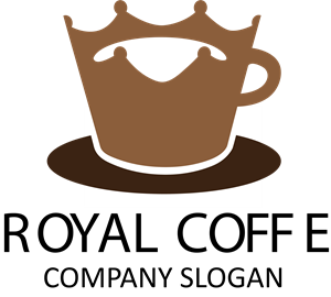 Royal with coffee Logo Vector