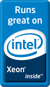 Runs great on Intel Xeon inside Logo Vector