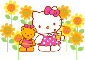 Sanrio - Hello Kitty Logo Vector