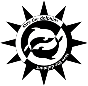 Save the dolphins Logo Vector