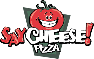 Say Cheese Pizza Logo Vector