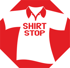 Shirt Stop Logo Vector