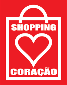 Shopping Coracao Logo Vector