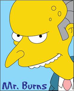 Simpsons - Mr. Burns Logo Vector