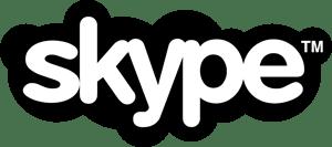 Resultado de imagen de skype logo blanco y negro