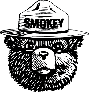 Smokey the Bear Logo Vector