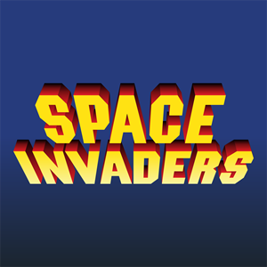 Space Invaders Logo Vector