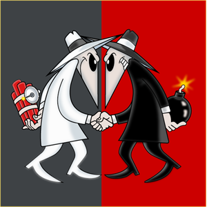 Spy vs Spy Logo Vector