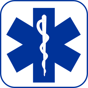 Star Of Life Blue Logo Vector