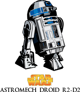 Star Wars Astromech Droid R2-D2 Logo Vector