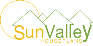 Sun Valley House Plans Logo Vector