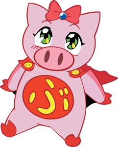 Super Pig Logo Vector