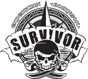 Survivor Expedition Robinson (B&W) Logo Vector