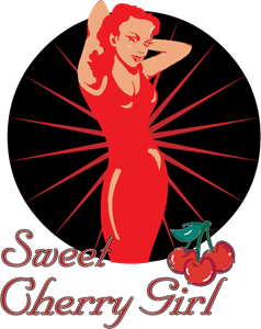 Sweet Cherry Girl Logo Vector