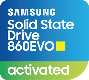 Samsung SSD 860EVO Activated Sticker Logo Vector