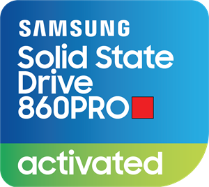 Samsung SSD 860Pro Activated Sticker Logo Vector