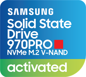 Samsung SSD 970PRO NVMe Activated Logo Vector