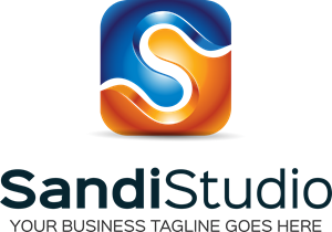 Sandi Studio Shape Design Logo Vector