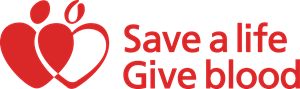 Save a Life Give Blood Logo Vector