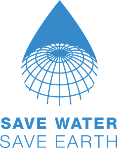 Save Water Save Earth Logo Vector